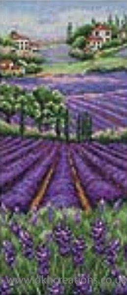 Provence Lavender Scape Cross Stitch Kit